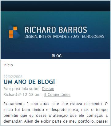 Screen Mobile Richard Barros